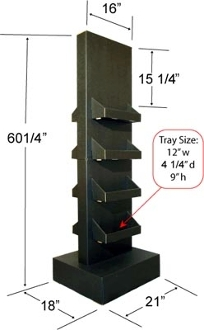 Double Sided Tower in Black