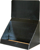 "12""wide DVD Bin Display in Black"