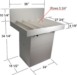 Large Dump Bin with Dividers