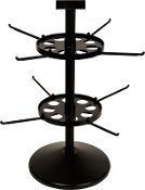 "Double Tier Spinner with 17"" Pole & 7"" Disks"