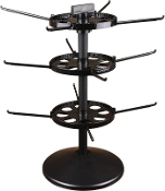 "Triple Tier Spinner with 17"" Pole & 7"" Disks"