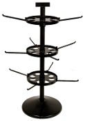 "Triple Tier Spinner with 23"" Pole & 7"" Disks"