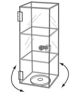 Acrylic Mini Tower Display Case with Rotating Base