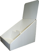 "6""wide 2 Tier CD Counter Display in White"