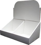 "11 1/2""wide CD Counter Display with Divider"