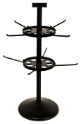 "Double Tier Spinner with 23"" Pole & 7"" Disks"