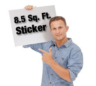 8.5 Sq. Ft. Custom Sticker