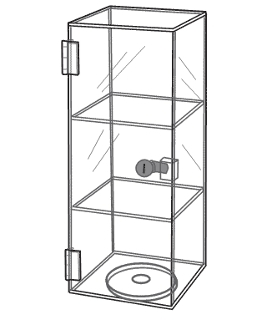 Acrylic Mini Tower Display Case with Lock
