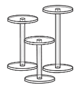 "Acrylic Dumbbell Pedestal Riser 4""high"