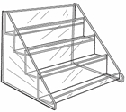 Acrylic 4 Tier Shelf Display with Front Lips