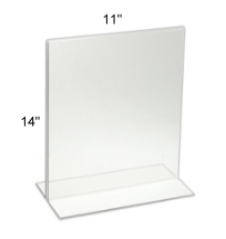 "Bottom Loading Acrylic Sign Holder 11""w x 14""h"