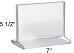 "Top Loading Acrylic Sign Holder 7""w x 5 1/2""h"