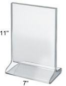 "Top Loading Acrylic Sign Holder 7""w x 11""h"