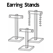 Acrylic T-Bar Earring Stands Set of 3